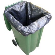 Black Heavy Duty Wheelie Bin Liner 20x47x50inch x100