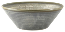 Terra Porcelain Matt Grey Conical Bowl 16cm x6