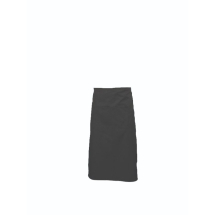 Black Long Apron W/ Split Pocket 90cm Long x1