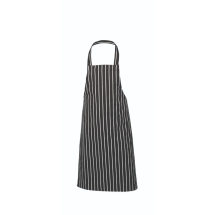 Black Butchers Stripe Bib Apron 70x100cm x1