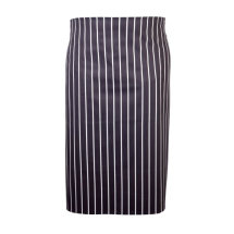 Navy Butchers Stripe Waist Apron 71cm X 76cm x1