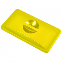Yellow Closed Lid For Slim Recycling Bin x1