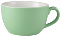 GenWare Porcelain Green Bowl Shaped Cup 17.5cl/6oz x6
