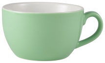 GenWare Porcelain Green Bowl Shaped Cup 25c/8.75ozl x6