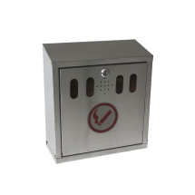 GenWare S/St. Wall-Mounted Outdoor Ashtray x1