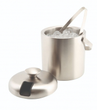GenWare Insulated St/St Ice Bucket&Tong 1.2L x1