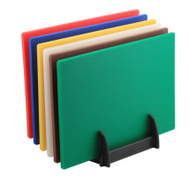6 Colour (1 of Each) HD Chopping Board + Rack x1