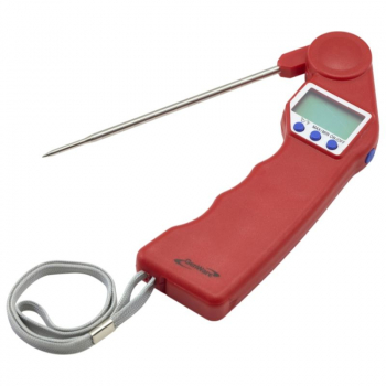 Red Folding Probe Pocket Thermometer -50/300C -58/572F
