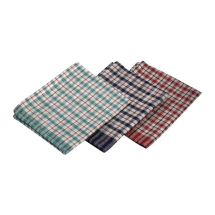 Mini Check T-Towel 43X68cm 10Pcs Mix Colours x1