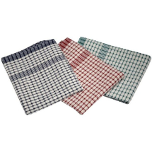 Cotton Check Teatowel 46X69cm 10Pcs Mix Colours x1