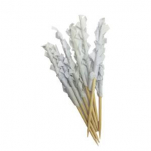White Paper Frill Wooden Buffet Skewers x 1000