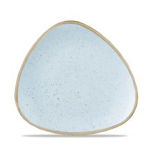 Stonecast Duck Egg Blue Lotus Triangle Plate 7.75inch x12