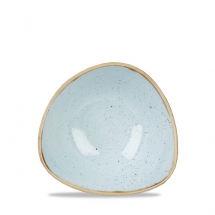 Stonecast Duck Egg Blue Lotus Triangle Bowl 6inch x12