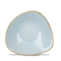 Stonecast Duck Egg Blue Lotus Triangle Bowl 7.25inch x12