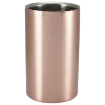 GenWare Ribbed Copper Plated Wine Cooler x1