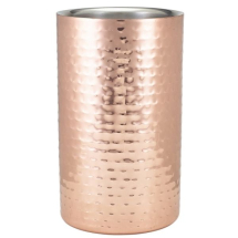 GenWare Hammered Copper Plated Wine Cooler x1