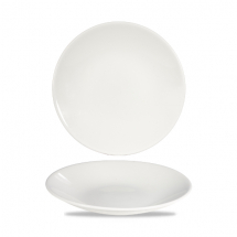 White Profile Deep Coupe Plate 8 7/8inch x12