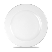 White Profile Footed Plate 10 7/8inch x12