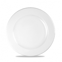 White Profile Footed Plate 9 1/8inch x12