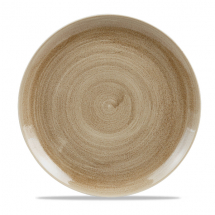 Stonecast Patina Antique Taupe Evolve Coupe Round Plate 11.25inch x12