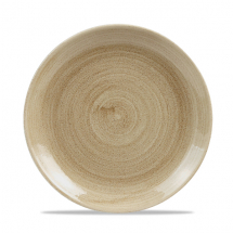 Stonecast Patina Antique Taupe Evolve Coupe Plate 8.67inch x12