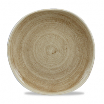 Stonecast Patina Antique Taupe Round Trace Plate 10 3/8inch x12