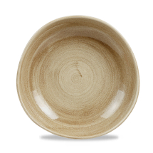 Stonecast Patina Antique Taupe Round Trace Bowl 9 7/8inch x12