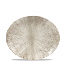 Stone Agate Grey Orbit Oval Coupe Plate 10inch x12