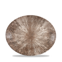 Stone Zircon Brown Orbit Oval Coupe Plate 10inch x12
