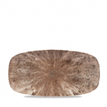 Stone Zircon Brown Oblong Chefs Plate (No3) 11.75x6inch x12