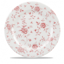 Rose Chintz Cranberry Profile Plate 12inch x6