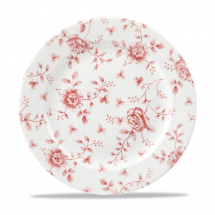 Rose Chintz Cranberry Plate 10.875inch x6