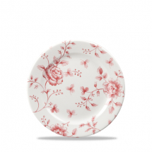 Rose Chintz Cranberry Profile Plate 6 5/8inch x6