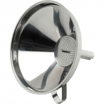 S/St.5inchFunnel With Removable Strainer x1