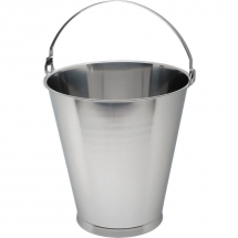 Swedish S/St.Skirted Bucket 15L Graduate x1