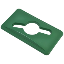 Green Glass Lid For Slim Recycling Bin x1