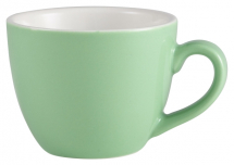 GenWare Porcelain Green Bowl Shaped Espresso Cup 9cl/3oz x6