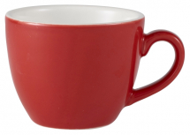 GenWare Porcelain Red Bowl Shaped Espresso Cup 9cl/3oz x6