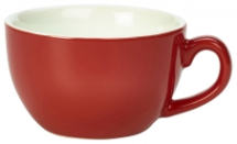 GenWare Porcelain Red Bowl Shaped Cup 17.5cl/6oz x6