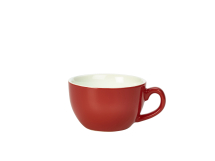 GenWare Porcelain Red Bowl Shaped Cup 25cl/8.75oz x6