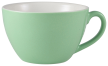 GenWare Porcelain Green Bowl Shaped Cup 34cl/12oz x6