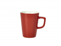 GenWare Porcelain Red Latte Mug 34cl/12oz x6