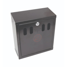 GenWare Black Wall-Mounted Outdoor Ashtray x1