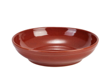 Terra Stoneware Rustic Red Coupe Bowl 23cm x6