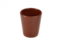 Terra Stoneware Rustic Red Conical Cup 10cm x6