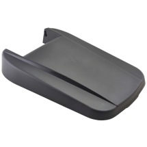 Black Closed Lid For Grey Recycling Bin 85L