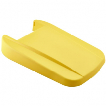 Yellow Closed Lid For Grey Recycling Bin 85L
