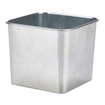 Galvanised Steel Square Tub 8 x 8 x 6cm x1