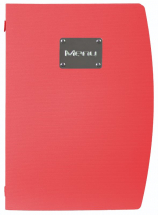 Rio A4 Menu Holder Red 4 Pages x1