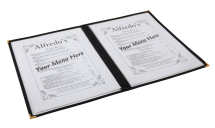 American Style Clear Menu Holder - 2 Page x1